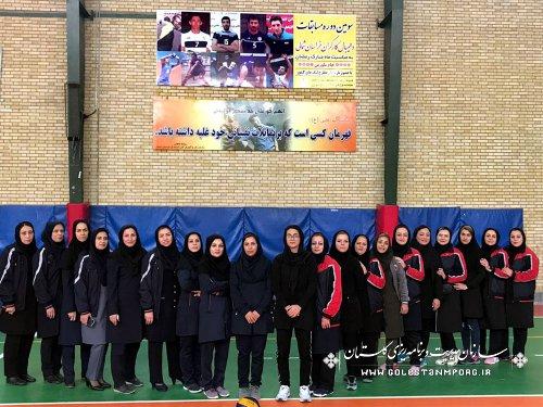 برگزاری مسابقه دوستانه والیبال بانوان سازمان مدیریت و برنامه ریزی استان گلستان و استان خراسان شمالی