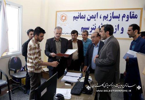 بازدید آقای روزبهان از ستاد بازسازی مناطق سیل زده شهرستان آق قلا