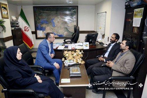 دیدار مدیرمنطقه ای خبرگزاری ایرنا نمایندگی استان گلستان  از روابط عمومی سازمان