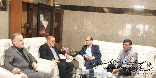 نشست استاندار گلستان با معاون آب و خاک وزیر جهاد کشاورزی