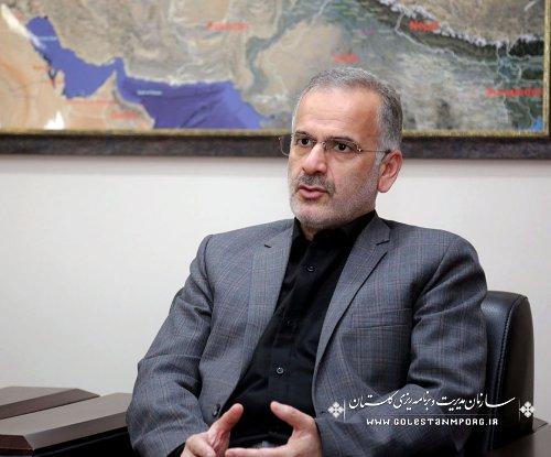 دیدار مدیر منطقه ای خبرگزاری ایرنا با رئیس سازمان مدیریت و برنامه ریزی گلستان