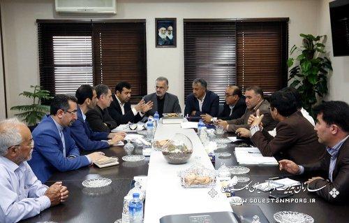 جلسه  آقای روزبهان رئیس سازمان با فرماندار  ونماینده مردم شریف شهرستان گنبد کاووس