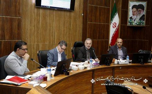 جلسه سازمان مدیریت وبرنامه ریزی با فرمانداریهای ترکمن و کردکوی و بندرگزو ومدیران دستگاههای اجرایی