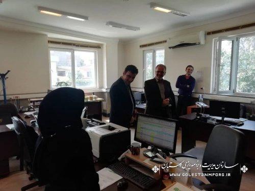بازدید آقای روزبهان از اداره کل امور مالیاتی استان گلستان