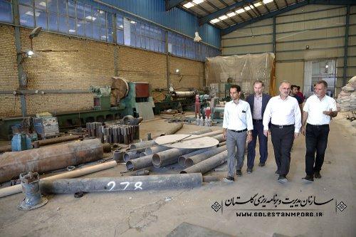 بازدید آقای روزبهان از تعدادی پروژه های  اقتصاد مقاومتی در استان