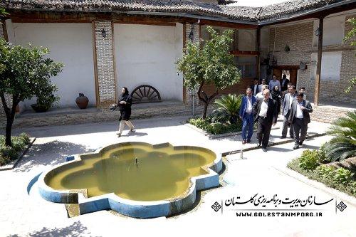 بازدید آقای روزبهان رئیس سازمان از محله قدیمی گرگان (سرچشمه ) خانه تاریخی تقوی ها