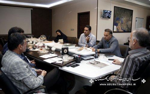 جلسه رئیس سازمان مدیریت وبرنامه ریزی استان با رئیس ومعاونین سازمان جهاد کشاورزی استان درخصوص افزایش تولید گوشت قرمز