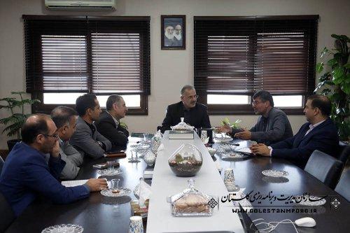 جلسه در خصوص پیگیری مسائل ومشکلات تعدادی از پروژه های مهم استان