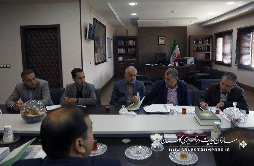جلسه آقای روزبهان رئیس سازمان در خصوص پیگیری مسائل ومشکلات تعدادی از پروژه های مهم استان