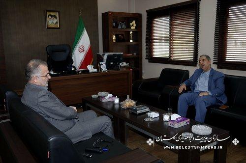 دیدار مدیر نمایندگی وزارت امور خارجه در استان گلستان با آقای روزبهان رئیس سازمان