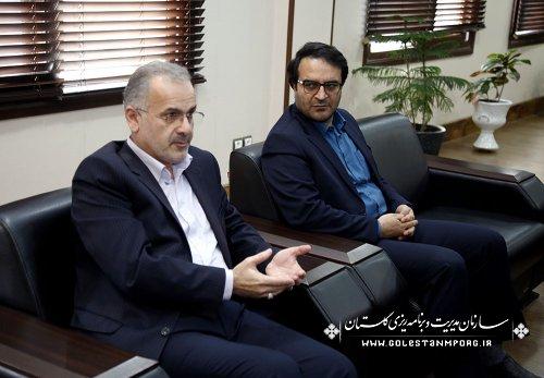 دیدار آقای باقریان رئیس اداره امور شعب بانک ملی استان با آقای روزبهان ریس سازمان مدیریت و برنامه ریزی استان
