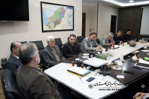 جلسه آقای روزبهان با دستگاههای اجرایی در خصوص طرح زهکشی امور اراضی کشاورزی استان گلستان