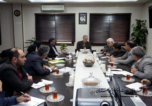 جلسه با دستگاههای اجرایی در خصوص طرح زهکشی امور اراضی کشاورزی استان گلستان
