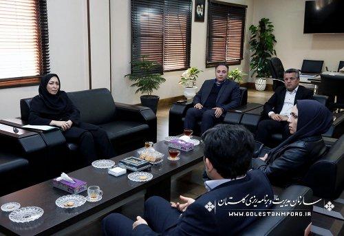 دیدار آقای دکترغفاری مدیر کل بهزیستی با خانم امینی سرپرست سازمان مدیریت و برنامه ریزی استان