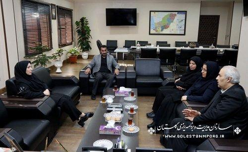 دیدار دکتر بنی عقیل با خانم امینی سرپرست سازمان مدیریت و برنامه ریزی استان