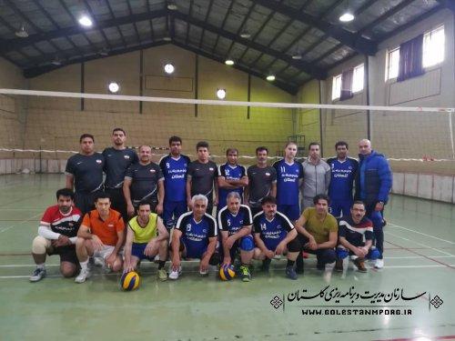 مسابقات دوستانه والیبال آقایان و بانوان سازمان مدیریت و برنامه ریزی استان گلستان
