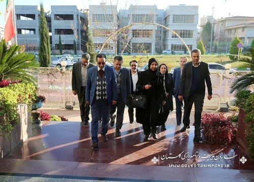 دیدار خانم دکتر اربابی معاون محترم توسعه سازمان برنامه و بودجه کشور با همکاران سازمان مدیریت و برنامه ریزی استان گلستان