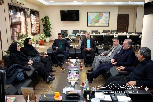 نشست مشترک دکتر زهرا اربابی و دکتر علیرضا نعمتی با آقای عابدی رئیس سازمان مدیریت و برنامه ریزی استان