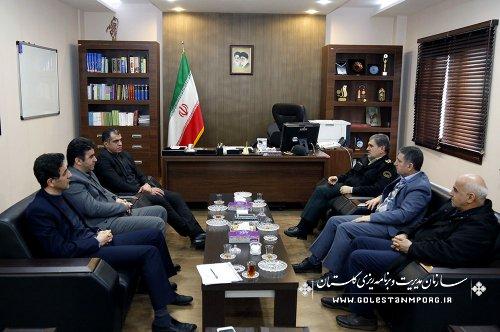 دیدار جمعی از مدیران دستگاههای اجرایی با آقای مهندس عابدی رئیس سازمان مدیریت و برنامه ریزی استان