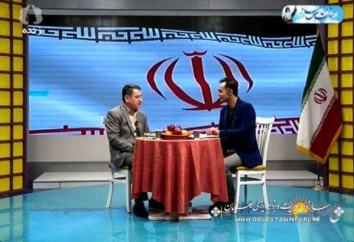 مصاحبه آقای مهندس عابدی با صدا وسیمای استان گلستان در برنامه صبح عالی گلستان  در خصوص پروژه های قابل افتتاح وکلنگ زنی  در دهه مبارک فجر