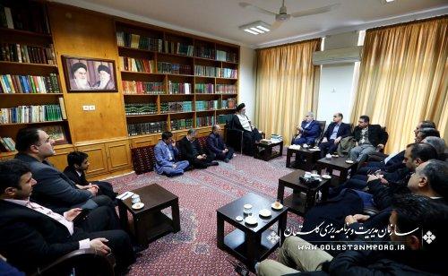 دیدار دکتر نوبخت معاون محترم رئیس جمهور ورئیس سازمان برنامه وبودجه با آیت الله نورمفیدی