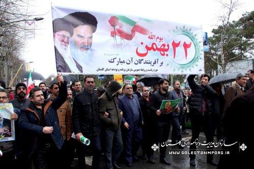 حضورهمکاران سازمان در مراسم یوم الله دهه مبارک فجر
