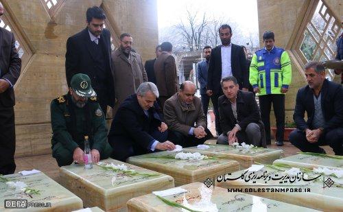 بازدید دکتر نوبخت از مرکز فرهنگی دفاع مقدس گلستان