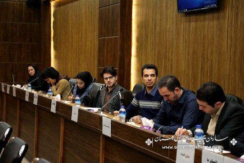 نشست خبری آقای عابدی رئیس سازمان  با خبرنگاران خبرگزاریها ،مطبوعات ورسانه های استان گلستان