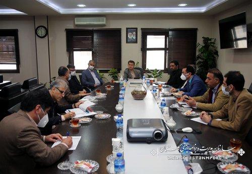 جلسه بررسی وضعیت پروژه کاسپین طلایی چیکا در سازمان مدیریت وبرنامه ریزی استان