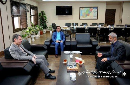 دیدار مهندس کوهساری نماینده مردم شریف آزادشهر ،رامیان وبخش فندرسک با آقای عابدی رئیس سازمان