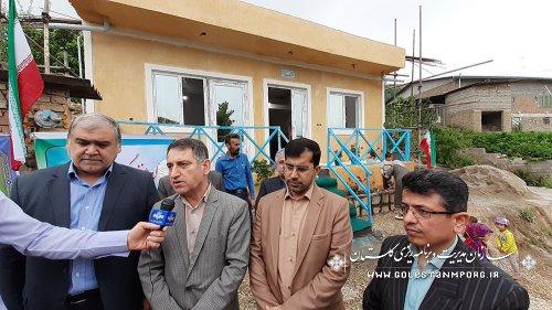 افتتاح یک واحد مسکونی احداثی بنیاد مسکن استان از محل اعتبارات حوادث سیل در شهرستان مینودشت