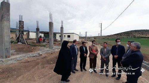 بازدید رئیس سازمان از روند بازسازی واحدهای مسکونی و ابنیه و تاسیسات روبنایی خسارت دیده از رانش در روستای قلعه قافه