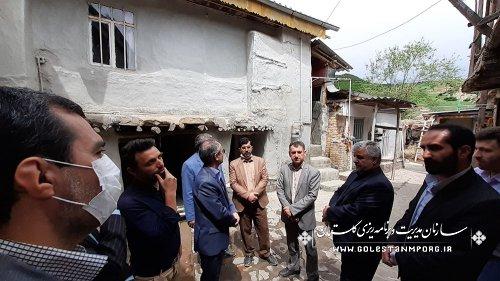 بازدید رئیس سازمان از از روند اجرای طرح بهسازی بافت باارزش روستای قلعه قافه پایین مینودشت