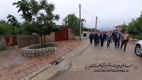 بازدید رئیس سازمان از روند اجرای طرح هادی روستای لیسه شهرستان مینودشت