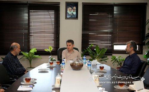 دیدار سرهنگ ملک حسینی رئیس بسیج سازندگی استان با آقای عابدی رئیس سازمان
