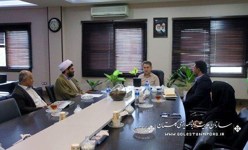 دیدار مدیرکل اوقاف با آقای عابدی رئیس سازمان