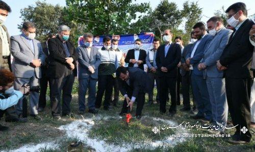 آیین کلنگ زنی و آغاز عملیات اجرایی احداث ۱۵۰ واحد مسکن محرومین
