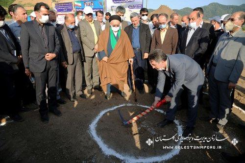 حضور  آقای عابدی رئیس سازمان در مراسم آغاز عملیات اجرایی سایت جدید روستای جنگلده بالا
