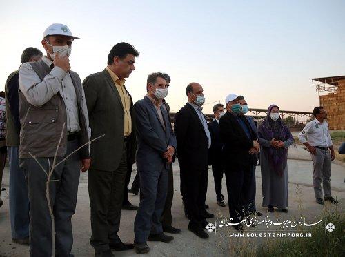 بازدی آقای عابدی رئیس سازمان از مرکز پرورش شتر
