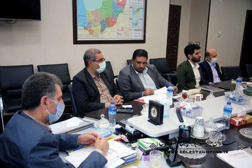 جلسه بررسی مشکلات پروژه  مجتمع فرهنگی ،ورزشی و توانبخش ایثارگران استان