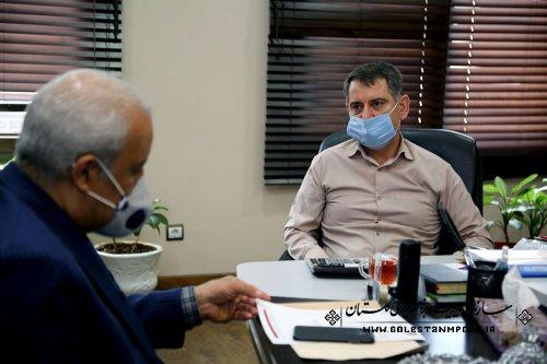 جلسه رئیس سازمان با مدیرکل انتقال خون استان