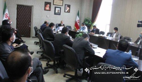 حضور رئیس حوزه ریاست و روابط عمومی سازمان در جلسه شورای اطلاع رسانی گلستان با جمعی از روابط عمومی های دستگاه های اجرایی
