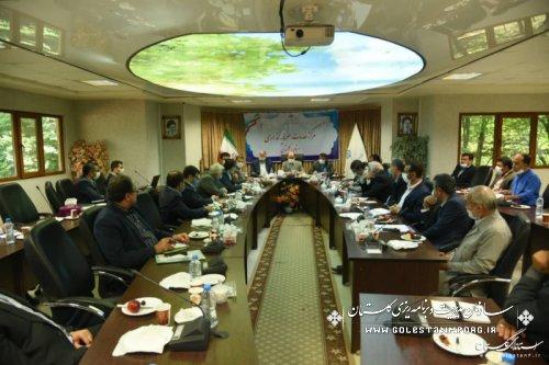 حضور رئیس سازمان در دومین جلسه طرح اقدام و مقابله با تحریم های ظالمانه در مرکز خدمات و سرمایه گذاری