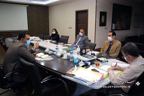جلسه رئیس سازمان در فرایند تصمیم گیری نحوه پیگیری توزیع اعتبارات سال 1399 درخصوص فرمانداران استان