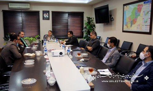 مراسم آیین تودیع و معارفه رئیس حراست سازمان مدیریت و برنامه ریزی گلستان