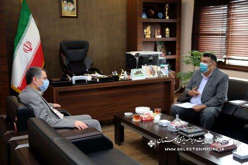چهارمین نشست رئیس سازمان با فرماندار محترم کردکوی
