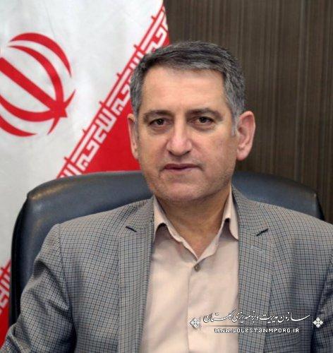 رئیس سازمان:رشد چشمگیر پروژه های هفته دولت در گلستان