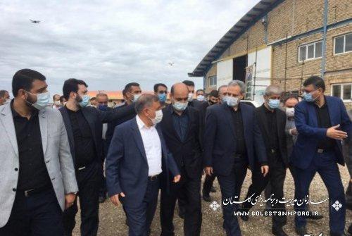 حضور رئیس سازمان در افتتاح و کلنگ زنی 2 واحد صنعتی در شهرک صنعتی آزاد شهر