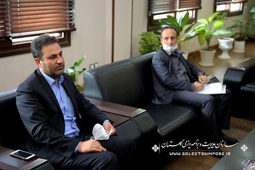جلسه رئیس سازمان با مدیرکل ثبت اسناد،املاک استان گلستان