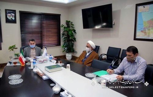 جلسه رئیس سازمان با مدیرکل مرکز خدمات حوزه علمیه استان